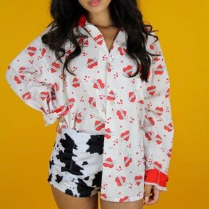 Tops - Hearts button down blouse